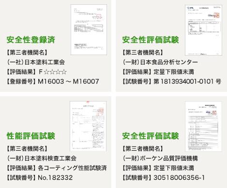 安全性登録済,安全性評価試験,性能評価試験,安全性評価試験